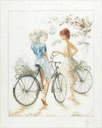 PN-0007949 Девочка на велосипеде (Lanarte)