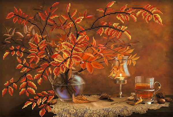 4087 Осенний натюрморт - схема для вышивания (Матрёнин посад)