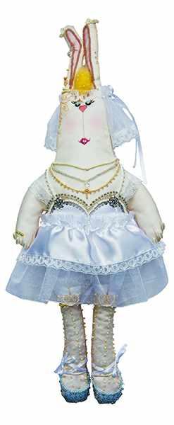 8002 Зайка Анфиса-невеста - текстильная игрушка (МП)