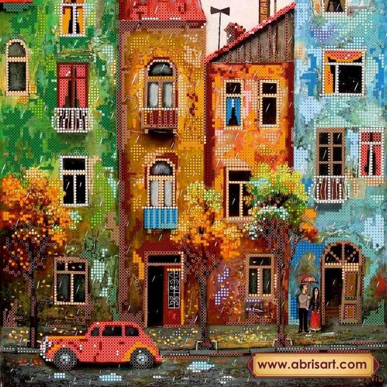 """АС-242 """"Цветной городишко"""" - схема для вышивания (Абрис Арт)"""