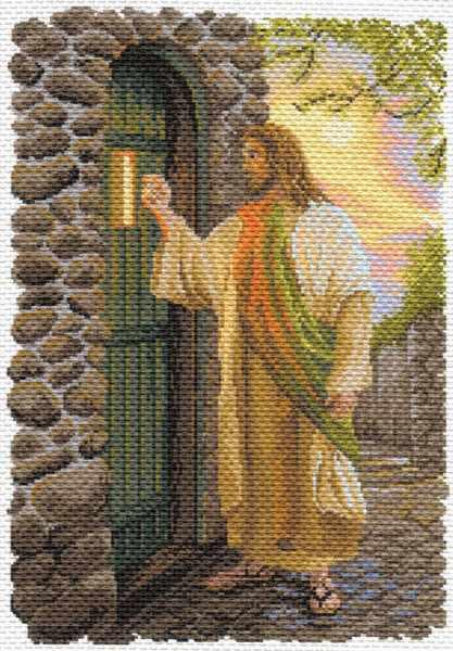 1649 Иисус - рисунок на канве (МП)