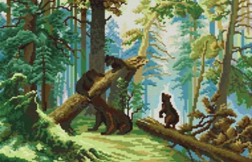 4160-14 Утро в сосновом лесу (Белоснежка)