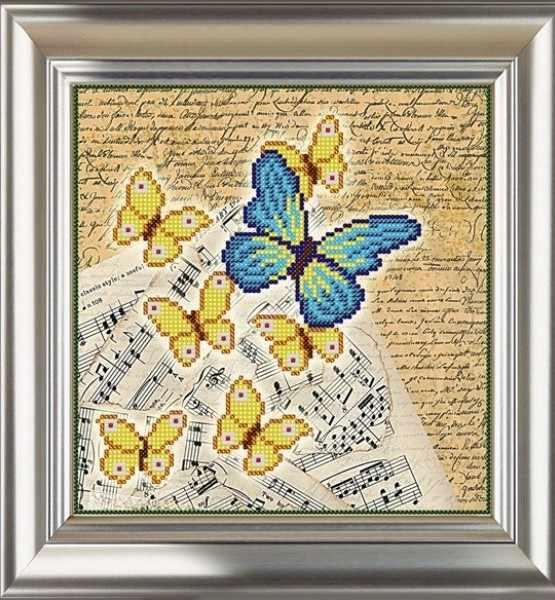 СЧ-813 Винтаж. Бабочки 3 - схема для вышивания (Велисса)