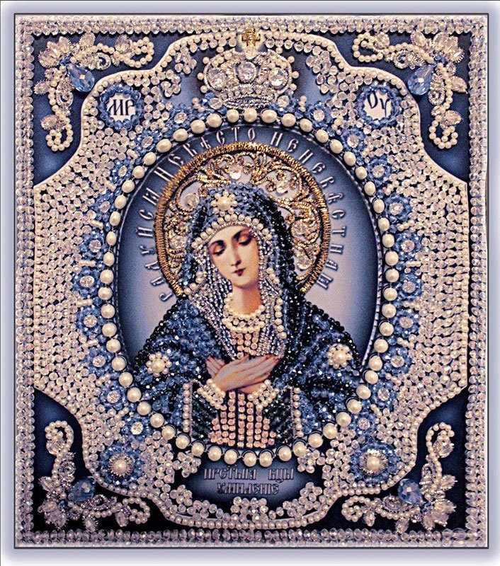 """7724 Богородица Умиление-1 """"Образа в каменьях"""""""