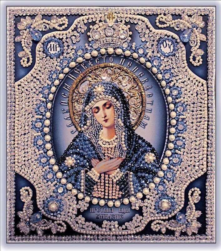 """7723 Богородица Умиление """"Образа в каменьях"""""""