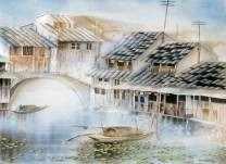 W-015 Дома на воде - мозаика Милато