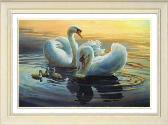 71066,15 Лебединая семья - мозаика Anya