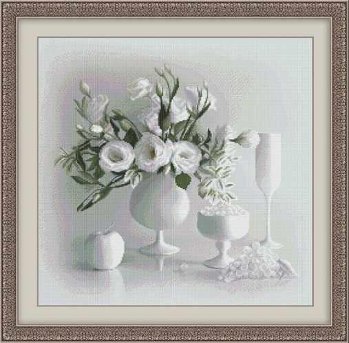 0104 Белый натюрморт - набор для вышивания (Юнона)