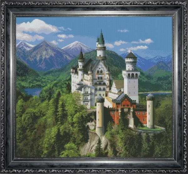 0504 Лебединый замок - набор для вышивания