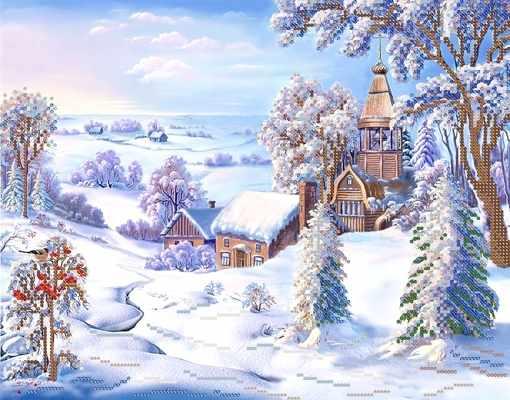 РКП-227 Морозная свежесть - схема для вышивания (Марiчка)