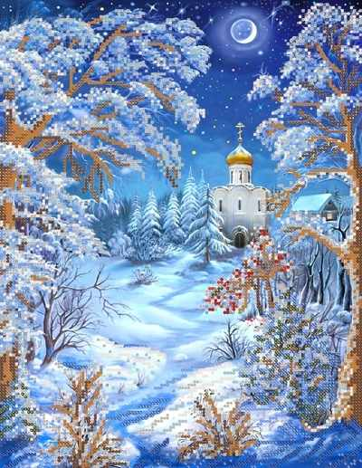 РКП-364 Морозная ночь - схема для вышивания (Марiчка)
