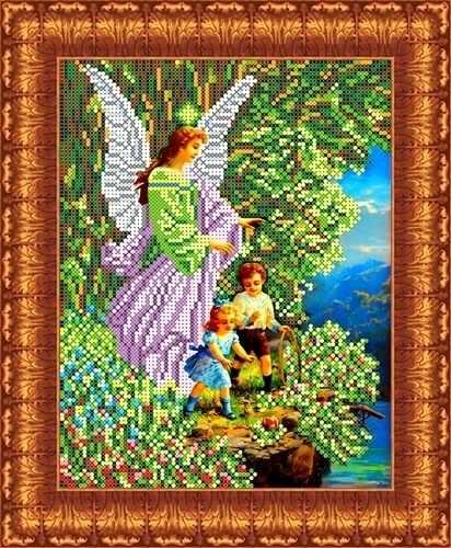 КБА 4006 Ангел и дети - схема для вышивания (Каролинка)