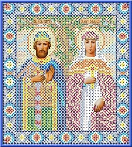 КБИ 4030 Святые Петр и Февронья - схема для вышивания (Каролинка)
