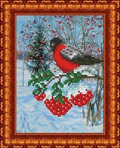 КБЖ 5009 Снегирь - схема для вышивания (Каролинка)