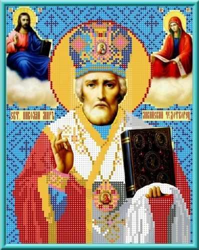 КБИ 4005 Икона Святой Николай - схема для вышивания (Каролинка)