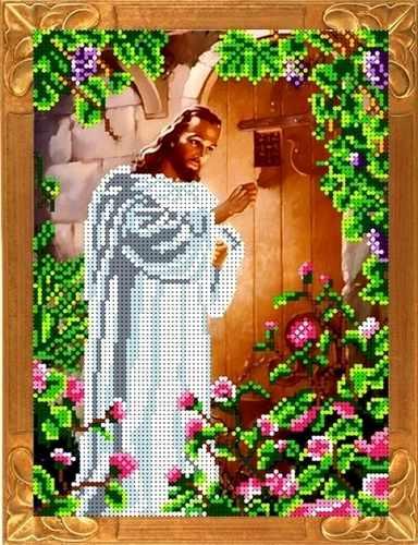 КБИ 4058 Иисус, стучащий в дверь - схема для вышивания (Каролинка)