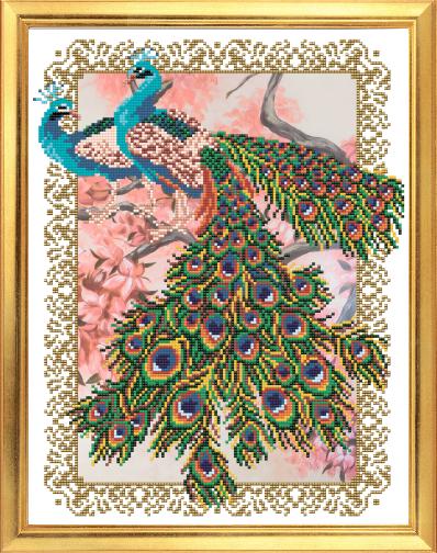 VKA3058 Павлины на сакуре - схема для вышивания (Art Solo)