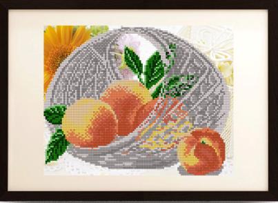 VKA4203 В хрустале. Персики - схема для вышивания (Art Solo)