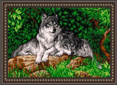 VKA3001 Волки - схема для вышивания (Art Solo)