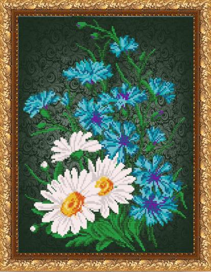 VKA3066 Васильки на черном - схема для вышивания (Art Solo)