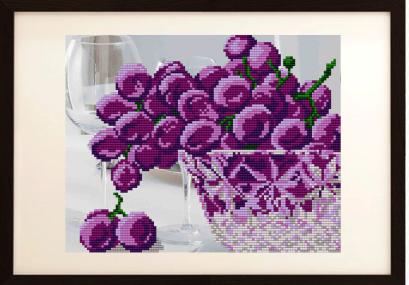 VKA4202 В хрустале. Виноград - схема для вышивания (Art Solo)