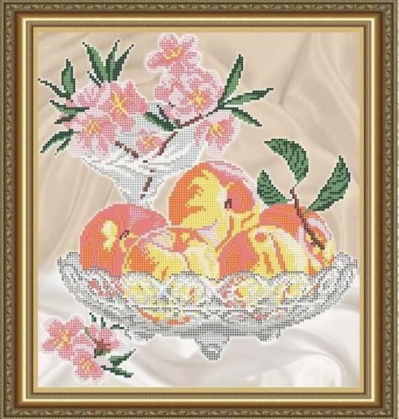 VKA4706 Персики в хрустале - схема для вышивания (Art Solo)