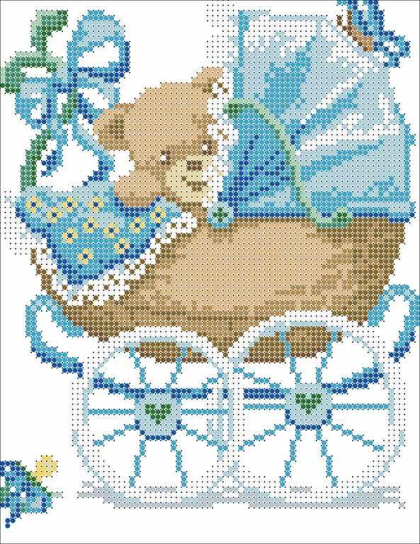 КМЧ-4334 Мальчик родился - схема (Мастерица)
