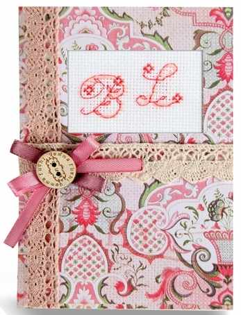 """(S)P-09 Набор для изготовления открытки """"Розовые узоры"""""""