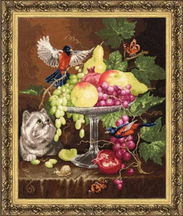 ГН-013 Ваза с фруктами. Староголландский натюрморт