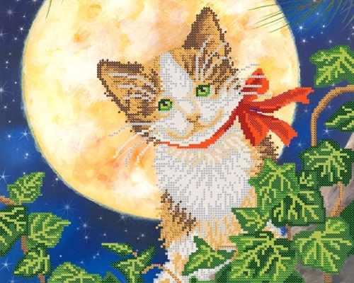 РКП-394 Лунный кот - схема для вышивания (Марiчка)