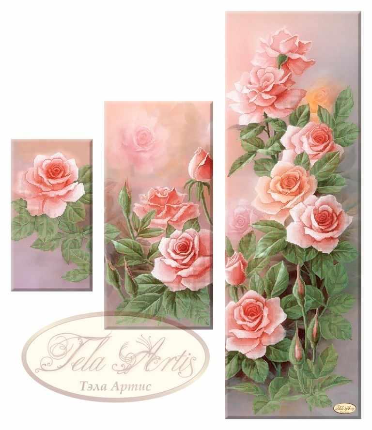СК-005 - Розовый сад - схема для вышивания (Tela Artis)