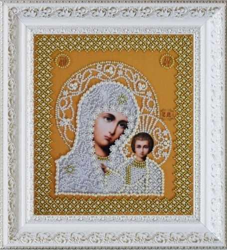 """Р-206 """"Казанская Икона Божией Матери. Венчальная пара (золото)"""" - набор для вышивания"""