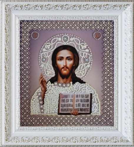 """Р-209 """"Икона Христа Спасителя. Венчальная пара"""" - набор для вышивания"""