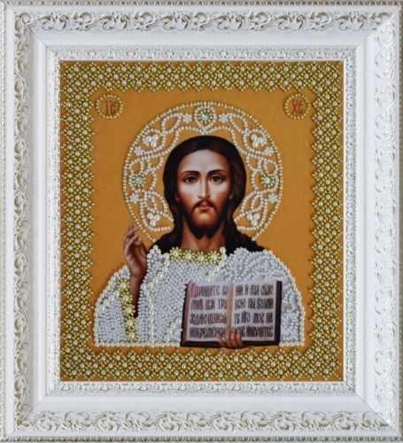 """Р-207 """"Икона Христа Спасителя. Венчальная пара (золото)"""" - набор для вышивания"""