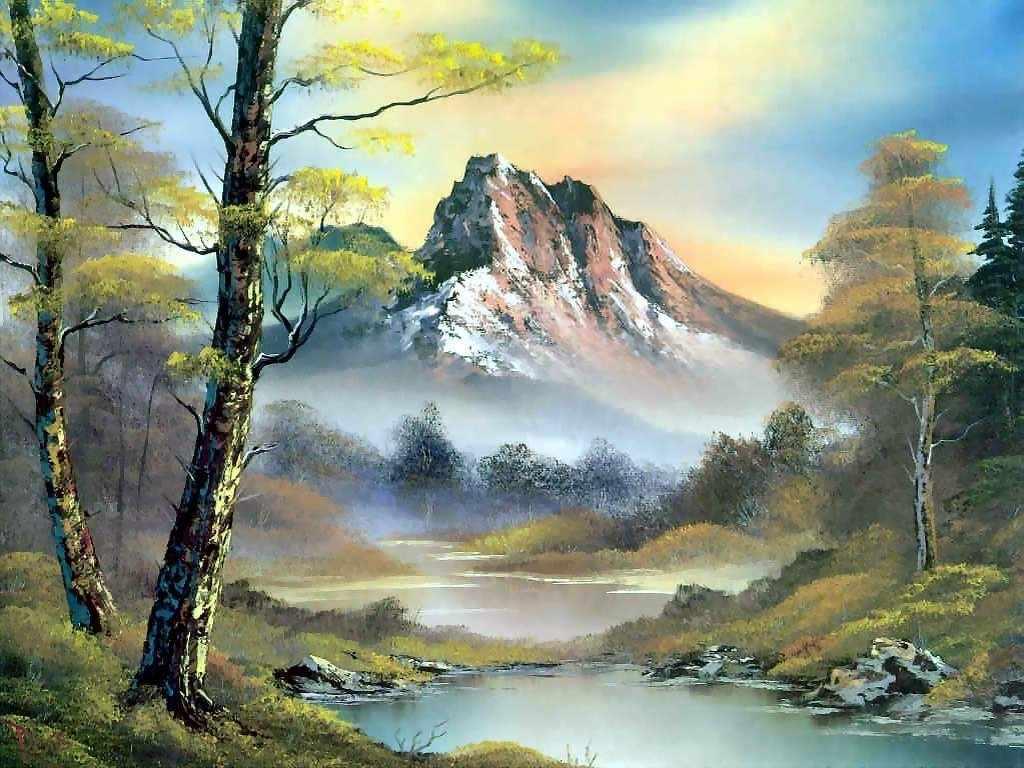 Алмазная вышивка Горный пейзаж (АЖ-1137) - картина стразами