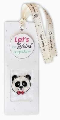 """N-36 Закладка для книг """"Let's be weird to"""""""