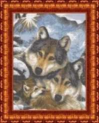 КБЖ 3019 Семья волков - схема для вышивания (Каролинка)