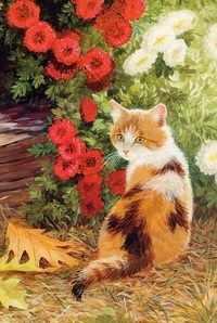 N-168 Кошечка в цветах - мозаика Милато