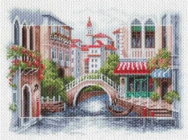 1696 Венецианский мостик - рисунок на канве (МП)
