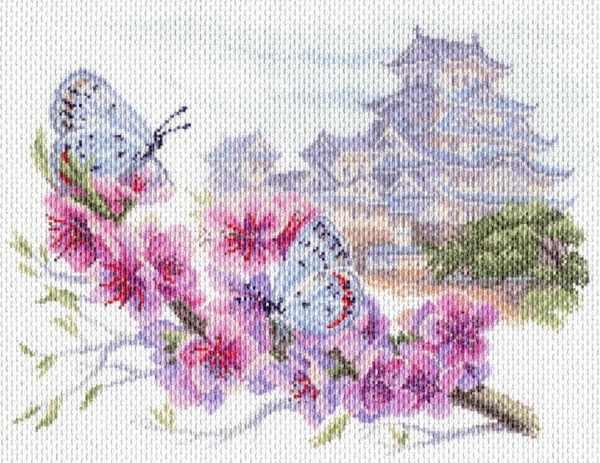 1699 Восточная весна - рисунок на канве (МП)