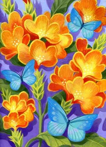 N-164 Бабочки синие - мозаика Милато