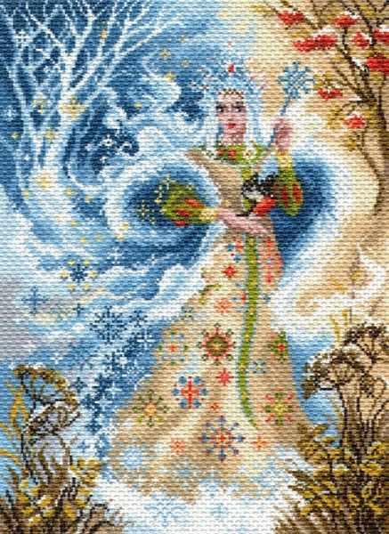 1703 Волшебница зима - рисунок на канве (МП)