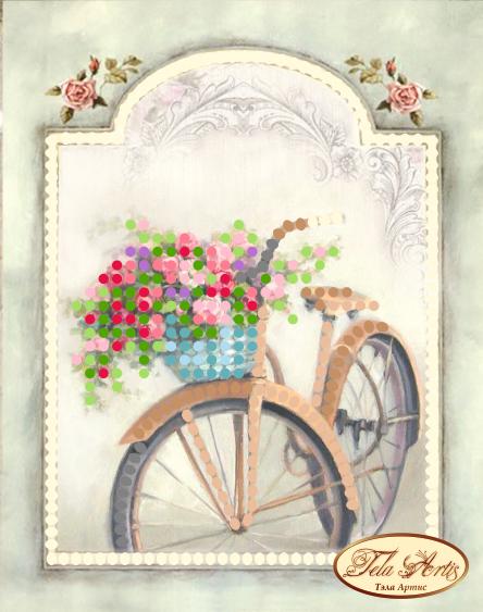 М-003 - Винтажный велосипед - схема для вышивания (Tela Artis)