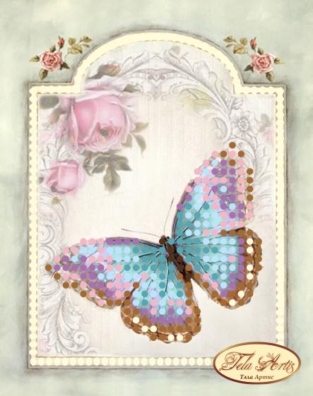 М-005 - Винтажная бабочка - схема для вышивания (Tela Artis)