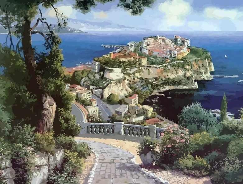 627-AB Княжеский дворец в Монако (Белоснежка)