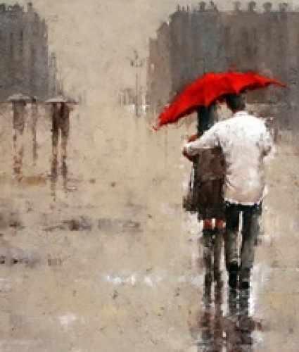 N-238 Двое под дождем - мозаика Милато