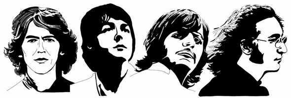 N-233 The Beatles - мозаика Милато