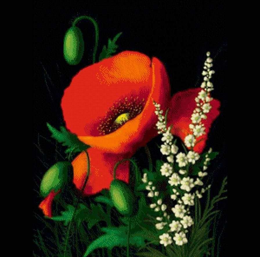 R-890 Маков цвет - мозаика Милато