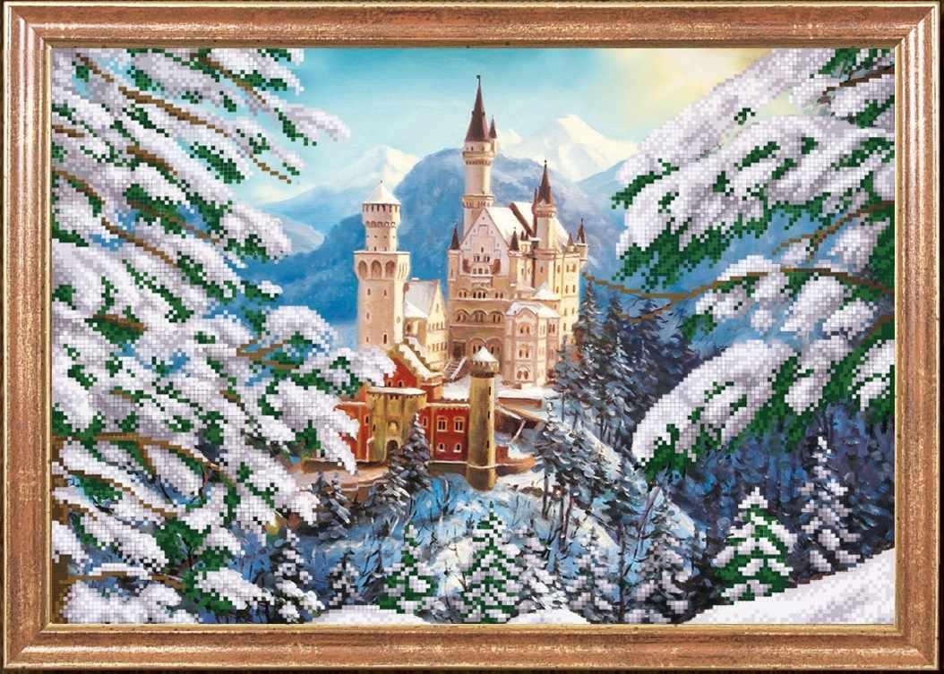 КС-010 Зимний замок - схема для вышивания (Магия канвы)