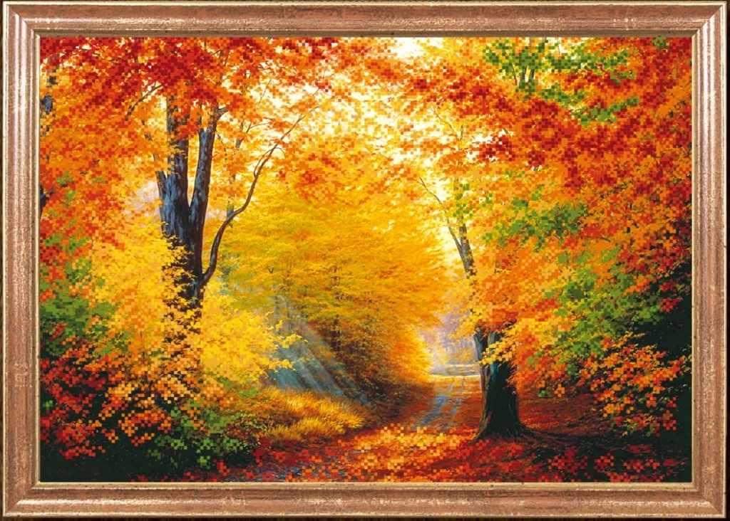 КС-007 Разноцветная осень - схема для вышивания (Магия канвы)